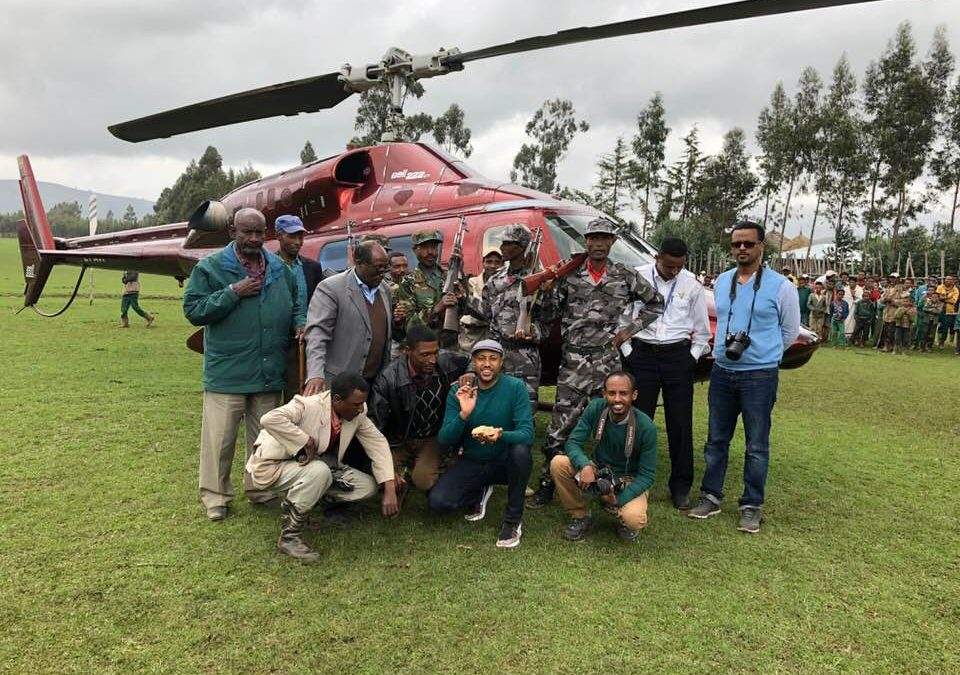 Rainbow Car Rental and Tours in partnership with its sister company has successfully organized a Helicopter trip to Lake Dendi for Ethiopian Tour Operators